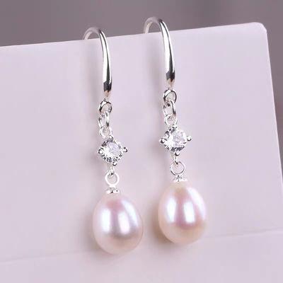 天然淡水珍珠S925纯银耳环女韩国气质耳坠防过敏时尚简约闺蜜同款