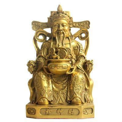 武财神爷佛像开光纯铜关公摆件铜像佛像武财神摆件关羽请财神爷