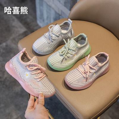 女童椰子鞋2020新款夏季童鞋中大童运动鞋透气网面儿童软底单网鞋