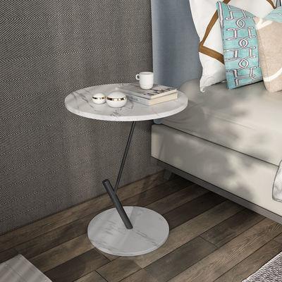 北欧大理石边几沙发角几客厅铁艺岩板简约小圆桌子小户型茶几茶桌
