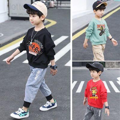 男童卫衣春秋时尚韩版小孩洋气帅气儿童男孩上衣童装中大童打底衫