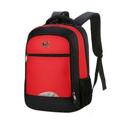 新款休闲书包男牛津布简约双肩包男背包男潮大容量学生书包旅行包