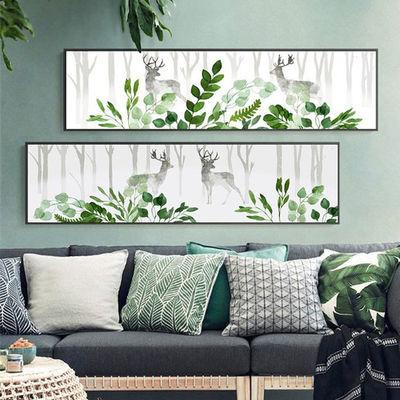 现代轻奢新中式卧室床头装饰画沙发背景墙风景简约挂画客厅有框画