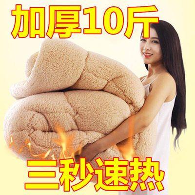 91401/【3秒速热】加厚10斤羊羔绒冬被双面绒法莱绒速暖被子加厚棉被芯
