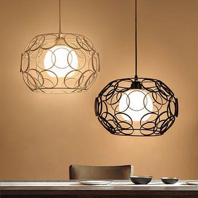 餐厅灯三头圆桌吧台创意简约个性灯具理发店饭店灯饰铁艺吊灯客厅