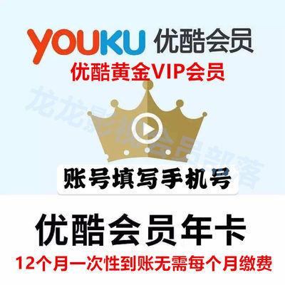 优酷视频VIP会员一年12个月直充