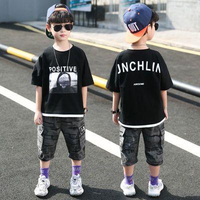 童装男童男孩夏装套装2020新款夏款夏季大儿童帅气夏天韩版潮衣服