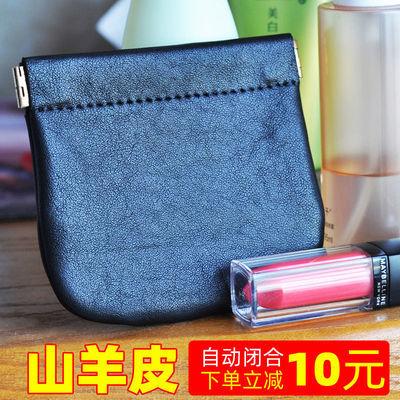 出口日本山羊皮零钱包 真皮蓝牙耳机收纳包 外贸女学生硬币钥匙包