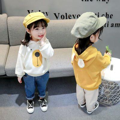 女童春装上衣2020新款儿童连帽卫衣秋季女宝宝韩版小女孩宽松童装