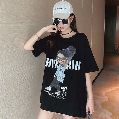 高品质纯棉T恤女新款短袖女学生韩版宽松简约休闲百搭上衣女夏装