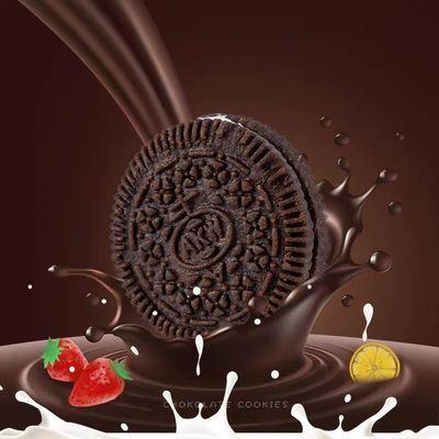 【拍4斤发5斤】巧克力夹心饼干草莓小黑饼干早餐代餐糕点零食500g