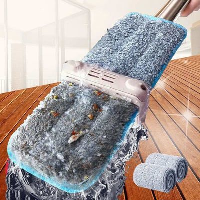 免手洗平板拖把家用木地板一拖神器懒人拖布干湿两用地拖托大号净