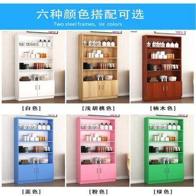 陈列架多层家用带门组合美容院产品展示柜简易展柜五层展架美容店