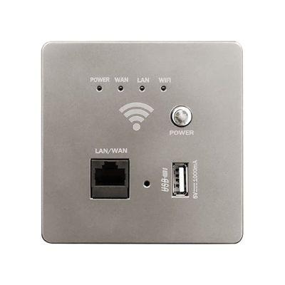 86型智能墙壁wifi面板墙壁路由器智能插座家用酒店无线AP面板300M
