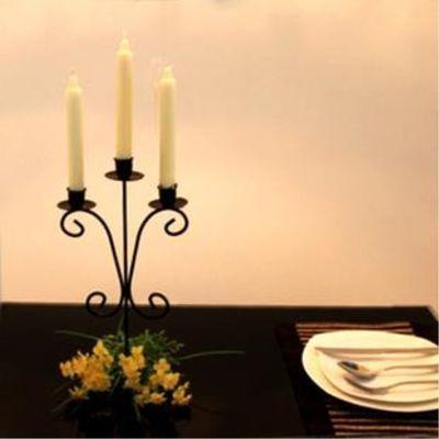 摆件铁艺蜡烛台七夕婚礼情人节生日烛光晚餐+西餐浪漫圣诞+欧式
