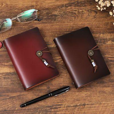 真皮手账本复古手工活页牛皮本便携小日记本商务旅行随身笔记本a7
