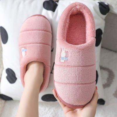 56780/棉拖鞋女冬季情侣包跟保暖室内防滑厚底韩版居家月子可爱毛毛鞋男