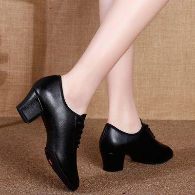 53871/真皮舞蹈鞋教师鞋软底拉丁舞鞋女成人水兵鞋广场舞跳舞鞋国标舞鞋