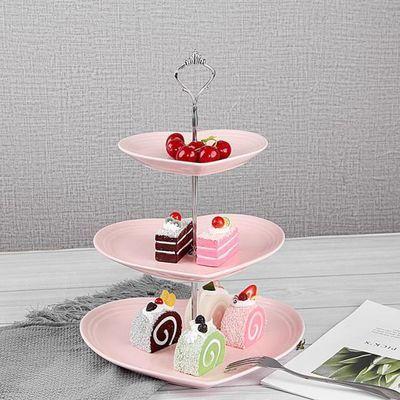 欧式蛋糕架子多层陶瓷甜品台盘子摆件展示架冷餐茶歇下午茶点心架