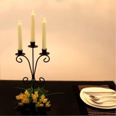 g欧式复古做旧米白铁艺烛台 拍摄摆拍道具 家居装饰北欧家居摆设