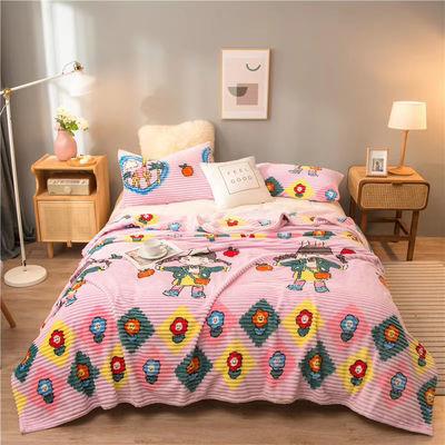 秋冬新品魔法绒毛毯盖毯加绒床单超柔毛毯被双面绒铺盖午睡绒盖被【9月30日发完】