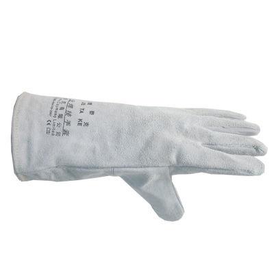 款劳保牛皮焊工手套电焊手套捷泰克耐高温防烫耐磨加厚33公分长