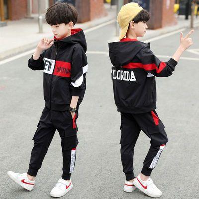 儿童装男童秋装套装2020新款中大童男孩春秋季韩版帅气运动13岁潮