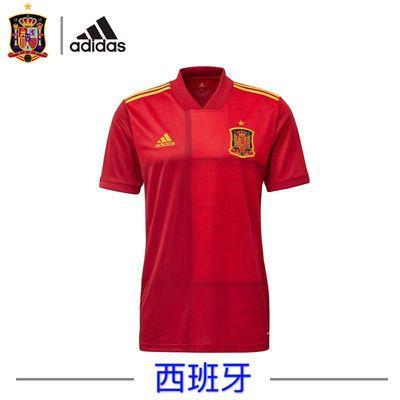 2020欧洲杯西班牙球衣主场15号拉莫斯队服定制印号足球服套装男夏