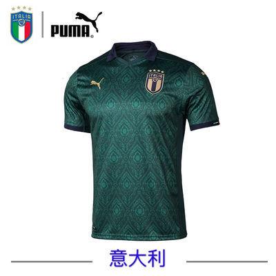 2020欧洲杯意大利球衣第二客场足球训练服贝洛蒂维拉蒂队服定制