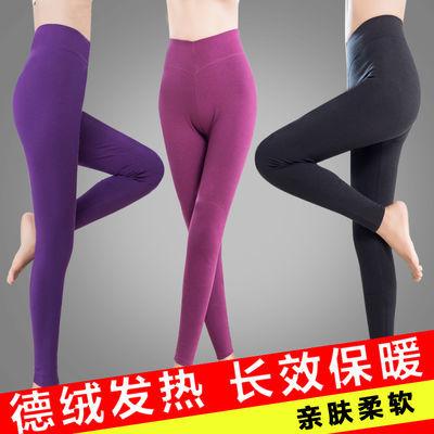 秋裤女内穿单件学生热能裤女发热纤维冬季女士带护膝的保暖裤女