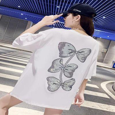 韩国潮牌ins下衣失踪t恤女短袖夏2020年新中长款宽松版打底衫半袖