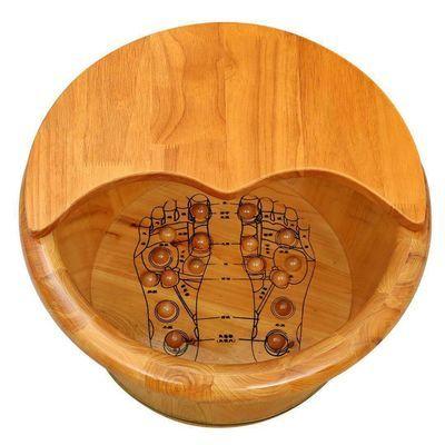 18381/香柏木养生泡脚盆泡脚木桶穴位按摩泡脚桶实木足疗木桶洗脚盆