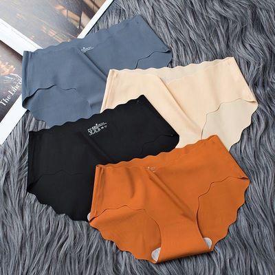 2/3/4条装 无痕冰丝内裤女性感内裤舒适少女透气三角内裤抗菌中腰