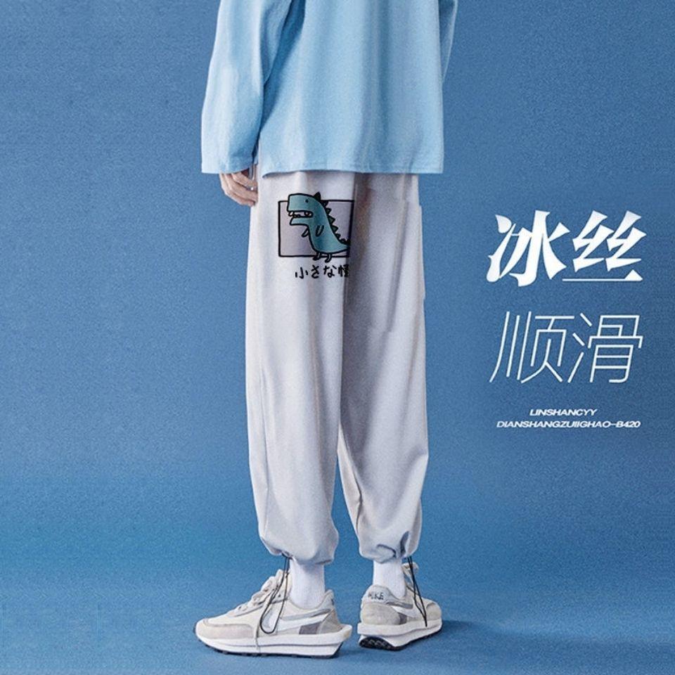 热卖新款学生韩版百搭潮流显瘦休闲长裤夏季男士宽松运动裤哈伦束