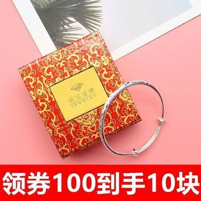 999银手镯女网红手链手镯女学生韩版简约时尚潮流纯个性手环镀银