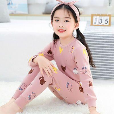 1-15岁儿童纯棉内衣套装男女童秋衣秋裤冬薄款中大童套装睡衣