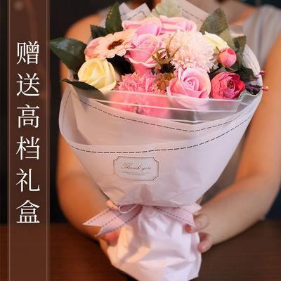 香皂花礼盒肥皂花仿真玫瑰花向日葵康乃馨七夕朋友生日礼物永生花