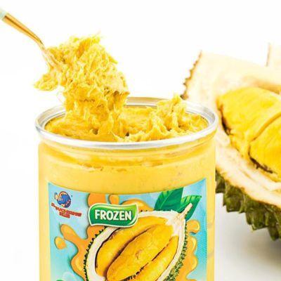 【溪边象】马来西亚猫山王榴莲纯果肉泥500g新鲜冷冻易拉罐装d197