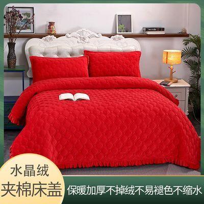 水晶绒毯子防滑夹棉床盖加厚保暖毛毯双面床单榻榻米大炕床四季毯