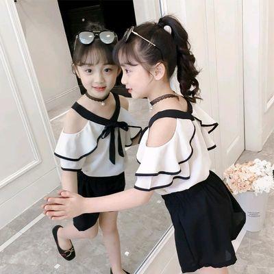 女童夏装洋气套装2020新款时髦网红时尚夏季吊带儿童女孩两件套潮