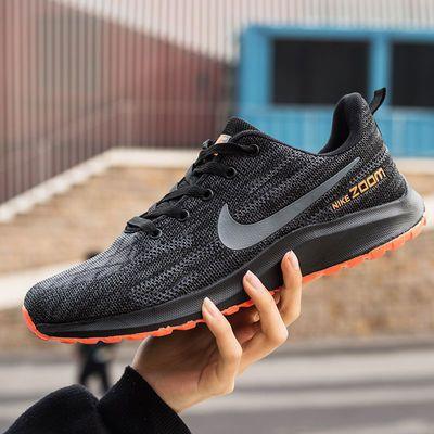 跑步休闲运动鞋子男女士网面轻便透气黑色防滑鞋男士夏季韩版潮流
