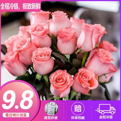 玫瑰花束真花鲜花批发云南昆明基地直发康乃馨百合花鲜花速递礼物