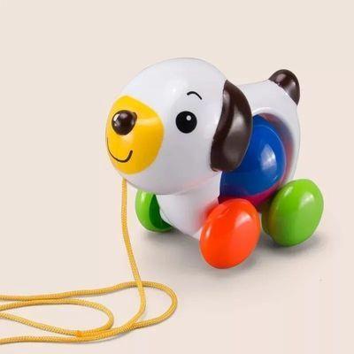 儿童玩具06-12个月宝宝1-2-3岁益智早教学步玩具拉绳线玩具带摇铃