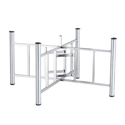 简易大圆桌架可折叠铁艺桌腿支架桌脚餐桌折叠伸缩桌架桌脚架