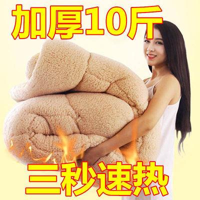72812/加厚10斤羊羔绒冬被法莱绒双面绒速暖被子单人双人保暖被芯被褥