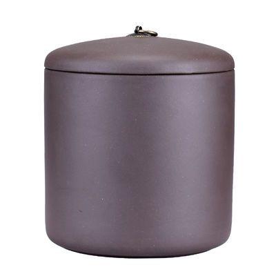 顾师傅紫砂茶罐陶瓷茶叶罐密封大号存储普洱茶饼罐特大紫砂存茶罐