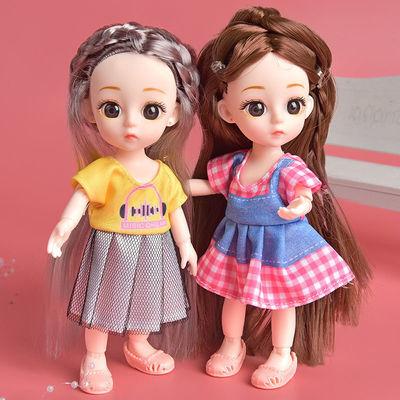 迷你芭比娃娃公主套装17厘米可换装礼盒儿童仿真娃娃女孩玩具长发