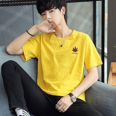 短袖t恤男2020夏季韩版潮流修身圆领宽松体恤男装网红半袖上衣服