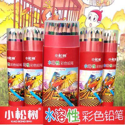 小松树36色彩色铅笔水溶性彩铅油性彩铅小学生彩铅套装12色画画笔
