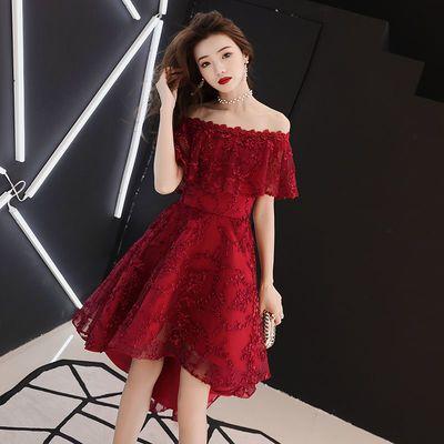 酒红色敬酒服2020新款新娘结婚订婚回门平时可穿气质显瘦晚礼服女